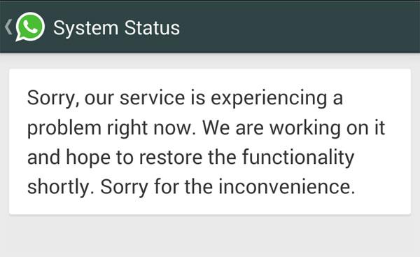 WhatsApp Sempat Down (Lagi)