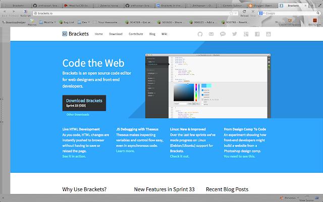 Brackets text Editor download  Brackets