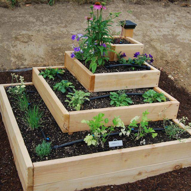 Raised Herb Garden Design Photograph Tiered Love This Ph