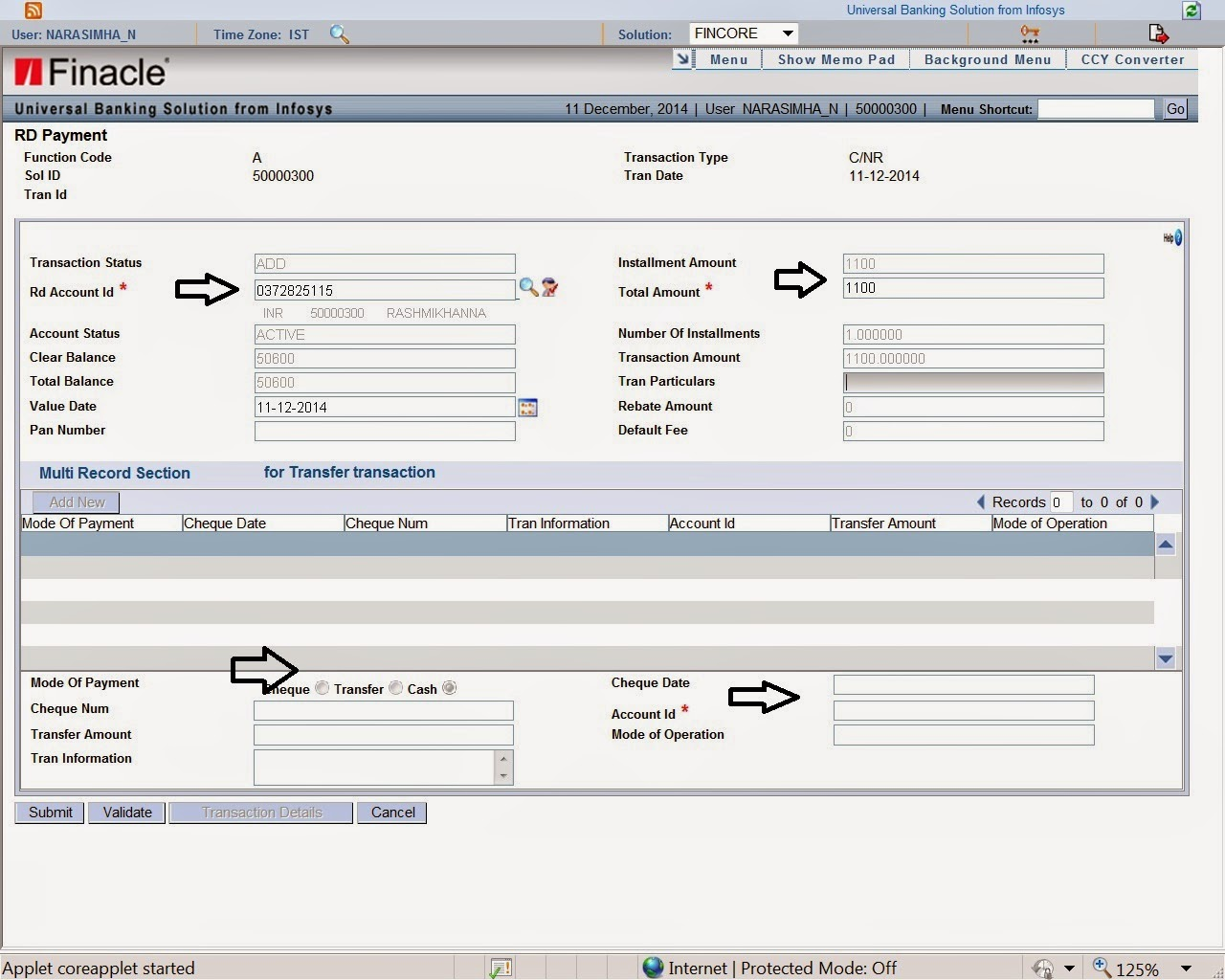 how to use finacle in bank