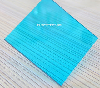 tấm lợp polycarbonate blue green đặc ruột