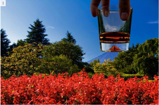 Mountain in Water Glass