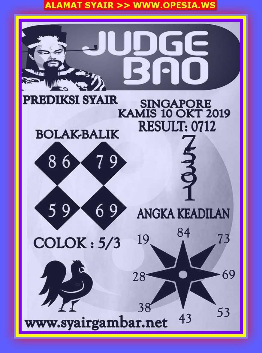 Kode syair Singapore Kamis 10 Oktober 2019 30