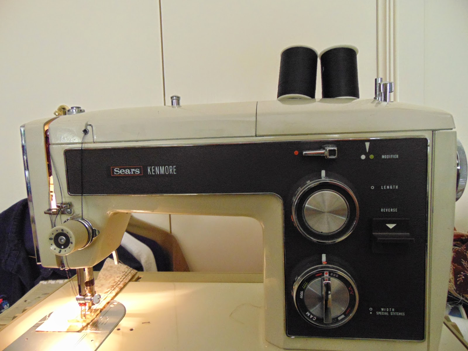 Kenmore Sears 1974 sewing machine with double needle and multi-purpose foot