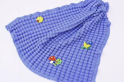 5 - Crochet, imagen linda sencilla cobija a relieve. Majovel Crochet