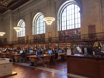 Inside new york public library