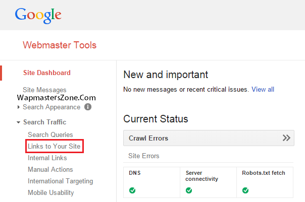 google webmasters links to your site disavow tool