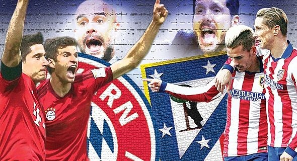 مباراة أتلتيكو مدريد وبايرن ميونخ
