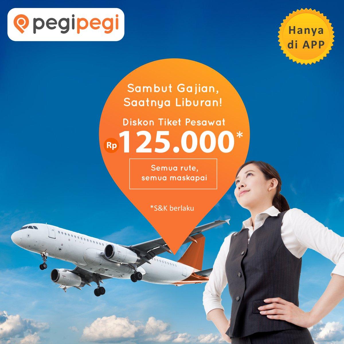 PegiPegi - Promo Diskon Tiket Pesawat s.d 125 Ribu (s.d 5 Sept 2018)