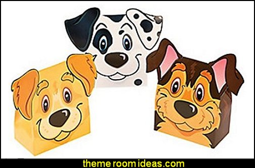 Puppy Party Favor Boxes  puppy themed birthday party -  kids dog theme birthday party - dog birthday party decorations - Puppy Birthday Party Supplies - pet party paw prints - dog bone shaped decorations - kids birthday pet theme party - furbabies birthday party - pooch party