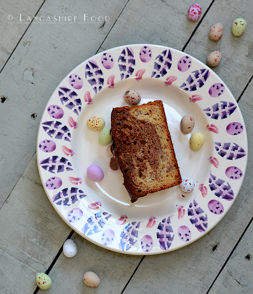 Easter Treat - Marbled banana and chocolate hazelnut loaf, gluten free too !