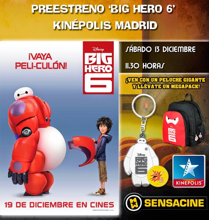 Preestreno Big Hero 6 en Madrid