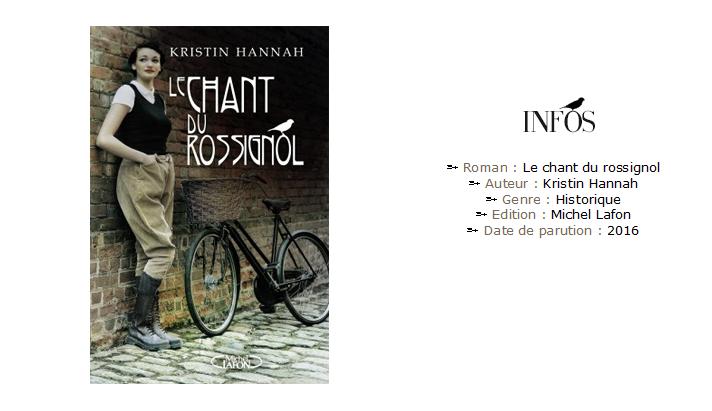 Le chant du Rossignol - Avis Lecture - Kristin Hannah