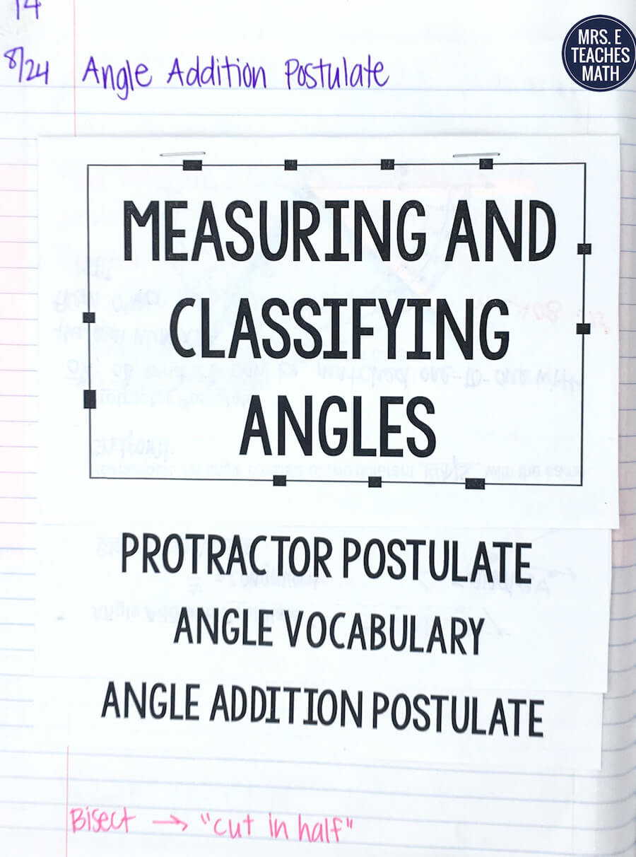 this foldable for the angle addition postulate in geometry is so helpful for my students notes - Angle Addition Postulate Worksheet