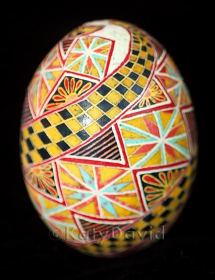 "©Katy David 2016 ""Taxi!"" Chicken eggshell, aniline dye, varnish"