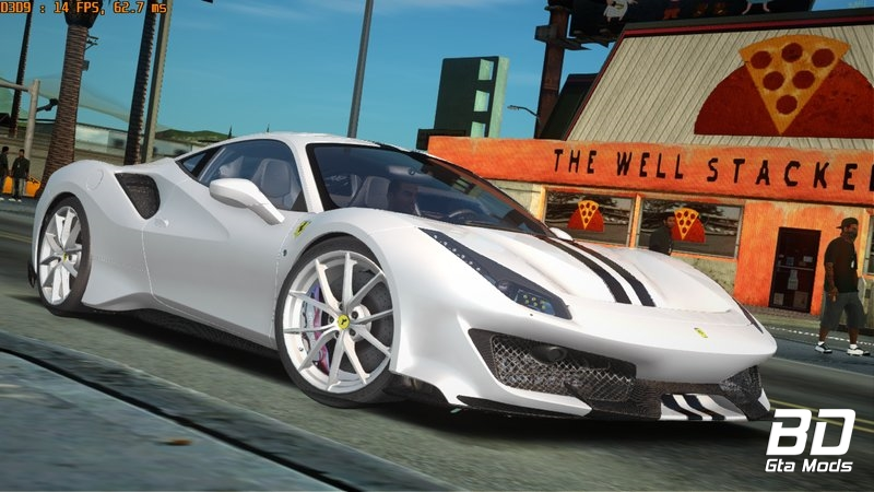 Download ,mod, carro, Ferrari, 488 Pista para GTA San Andreas
