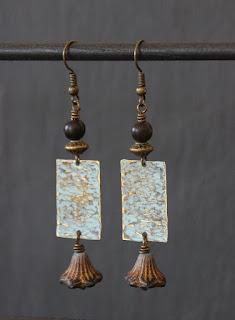 hamerred earrings
