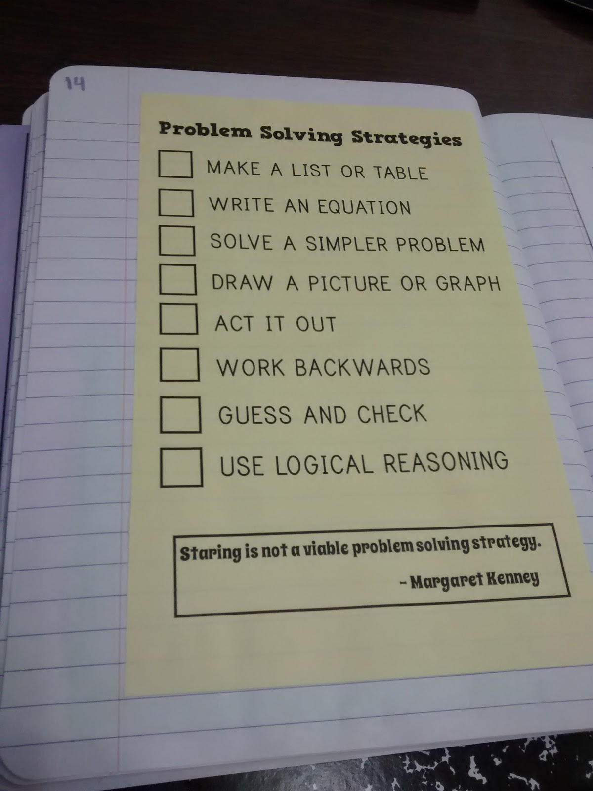 problem solving strategies posters pdf