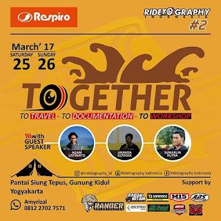 Gathering ke-2 Ridetography Indonesia, pecinta Fotografi dan Touring? Wajib ikut!