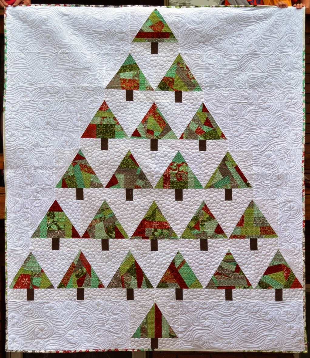 Christmas Tree For 2014: Happy Quilting: O Christmas Trees