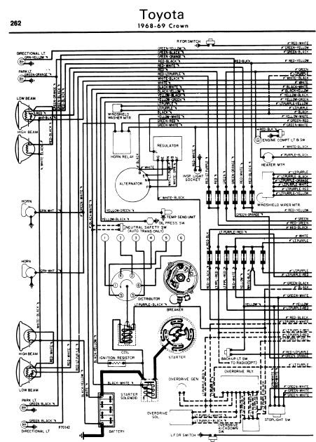 repairmanuals: Toyota Crown 196869 Wiring Diagrams
