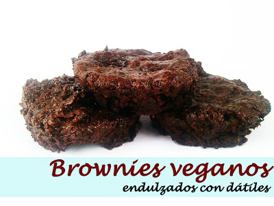 brownies veganos endulzados con datiles cocina receta gastronomia dulce reposteria veganismo nueces lino sin lactosa sin huevos sin grasa