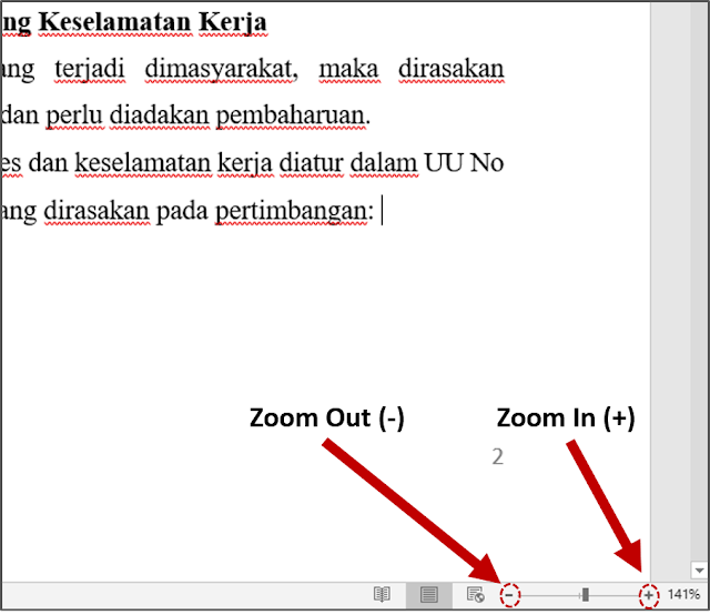 Zoom in atau Zoom out