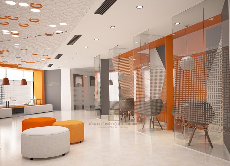 Thiết kế nội thất phòng làm việc sử dụng màu sắc theo phong cách thiết kế
