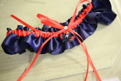 Washington Capitals Wedding Garter by Sugarplum Garters