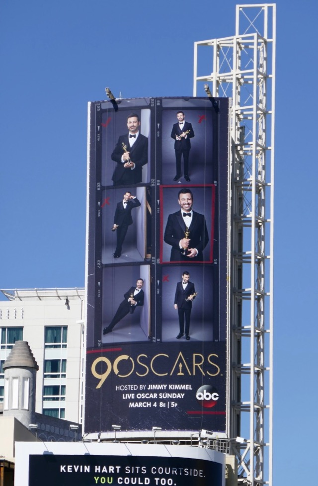 Daily Billboard Jimmy Kimmel 90th Oscars Billboard Advertising For Movies Tv Fashion Drinks Technology And More Check out this biography to know about his birthday, childhood, family life, achievements and fun facts about him. jimmy kimmel 90th oscars billboard
