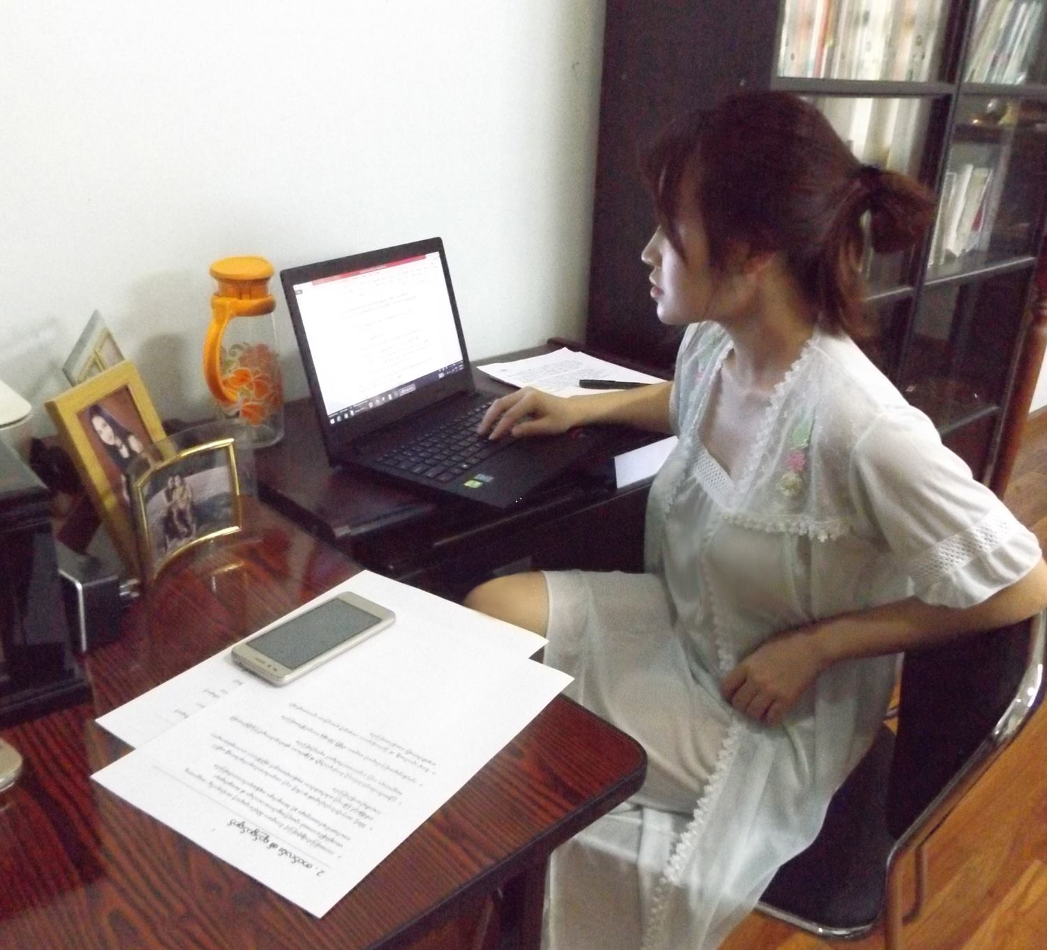 Shwe Yay Htin Htin - This is writing season on her Facebook