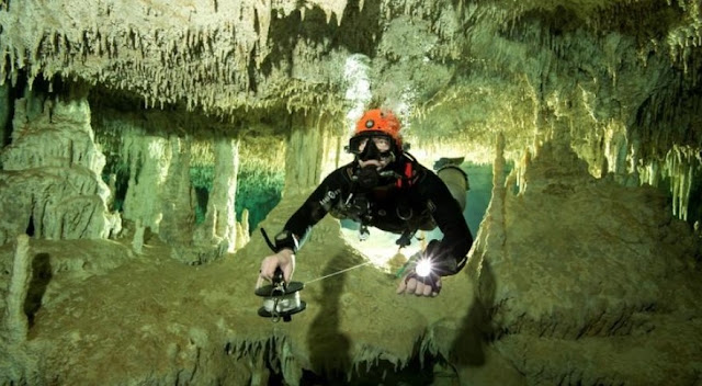 World's longest underwater cave system discovered in Mexico may shed light on Mayan rituals
