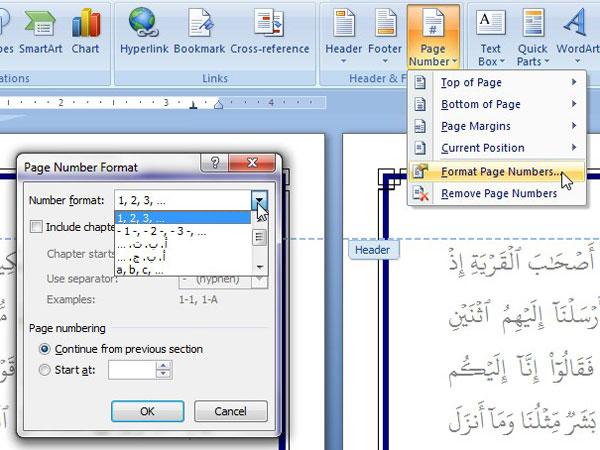 Cara membuat no halaman otomatis di Microsoft word