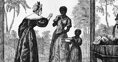 White woman slave owner in America