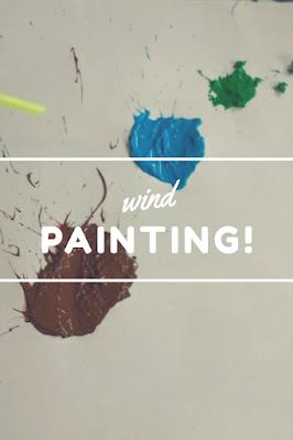 Wind Painting Process Art Activity