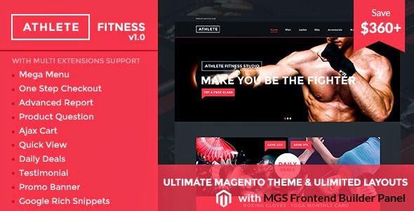 Athlete Fitness Magento theme