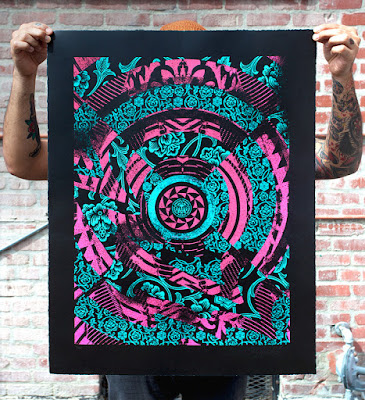 Shepard Fairey x Casey Ryder Obey Giant Chaos Art Screen Print