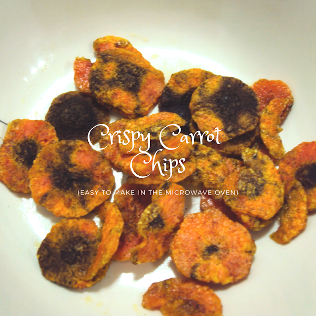 Healthy Snack: Homemade Microwave Carrot Chips