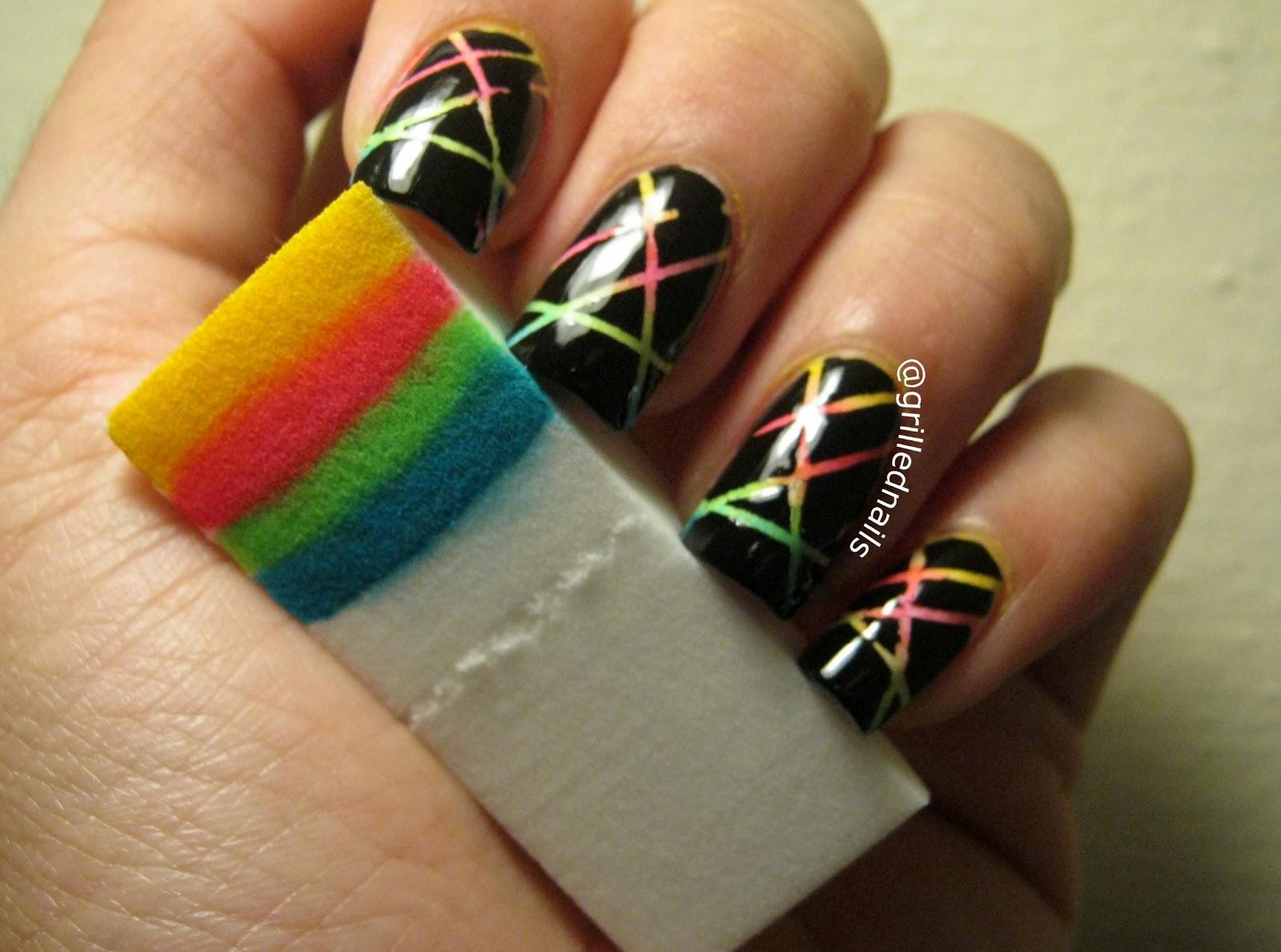 Nail Art Designs Using Striping Tape