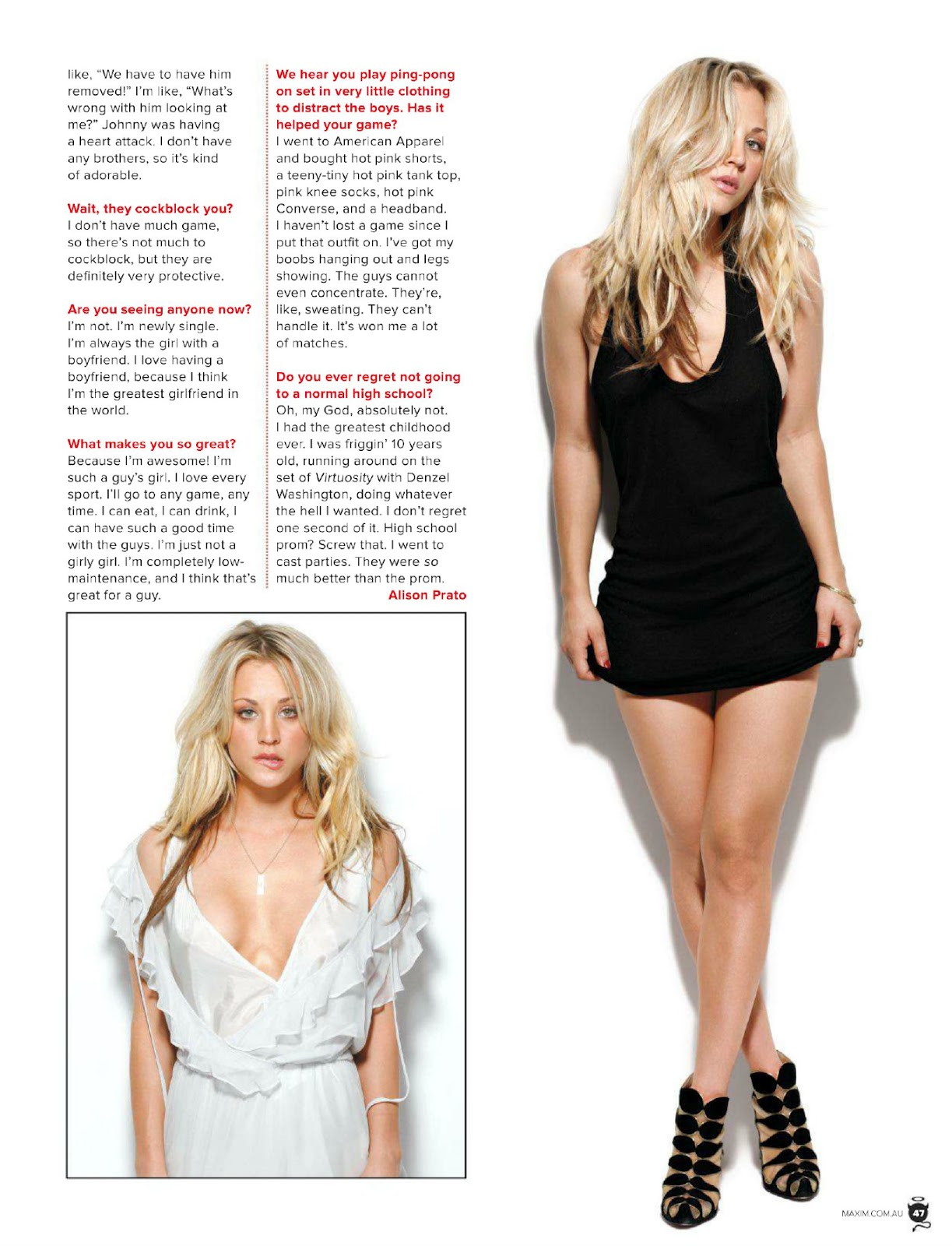 Kaley Cuoco Covers Maxim Australia Bootymotiontv