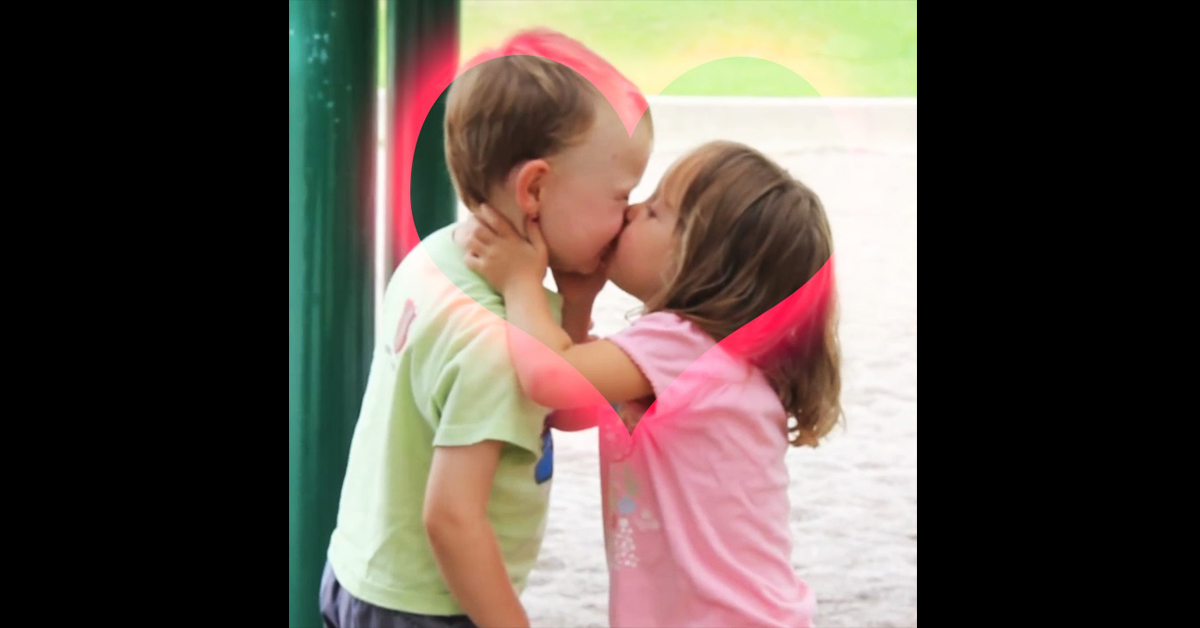 First Kiss at the Playground - Funny Kids Videos