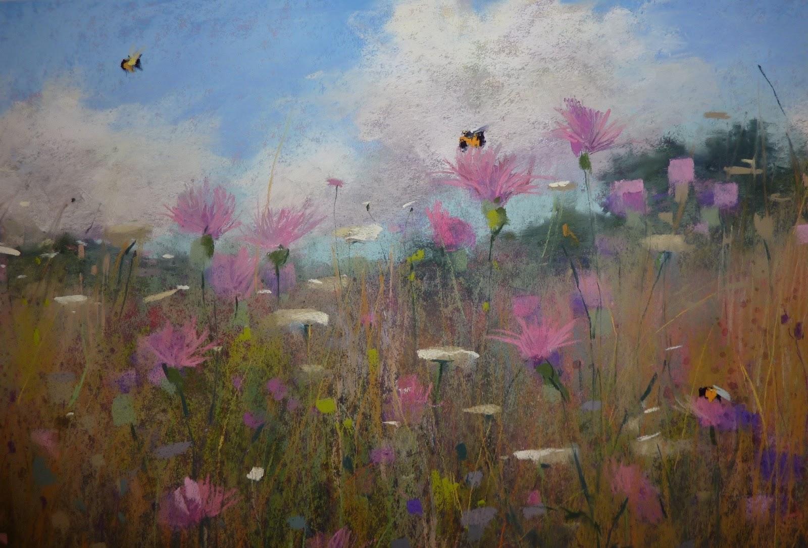 Pastel et fusain le blog de for Peinture rose pastel