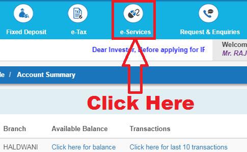 how to link aadhaar with sbi bank account using net banking