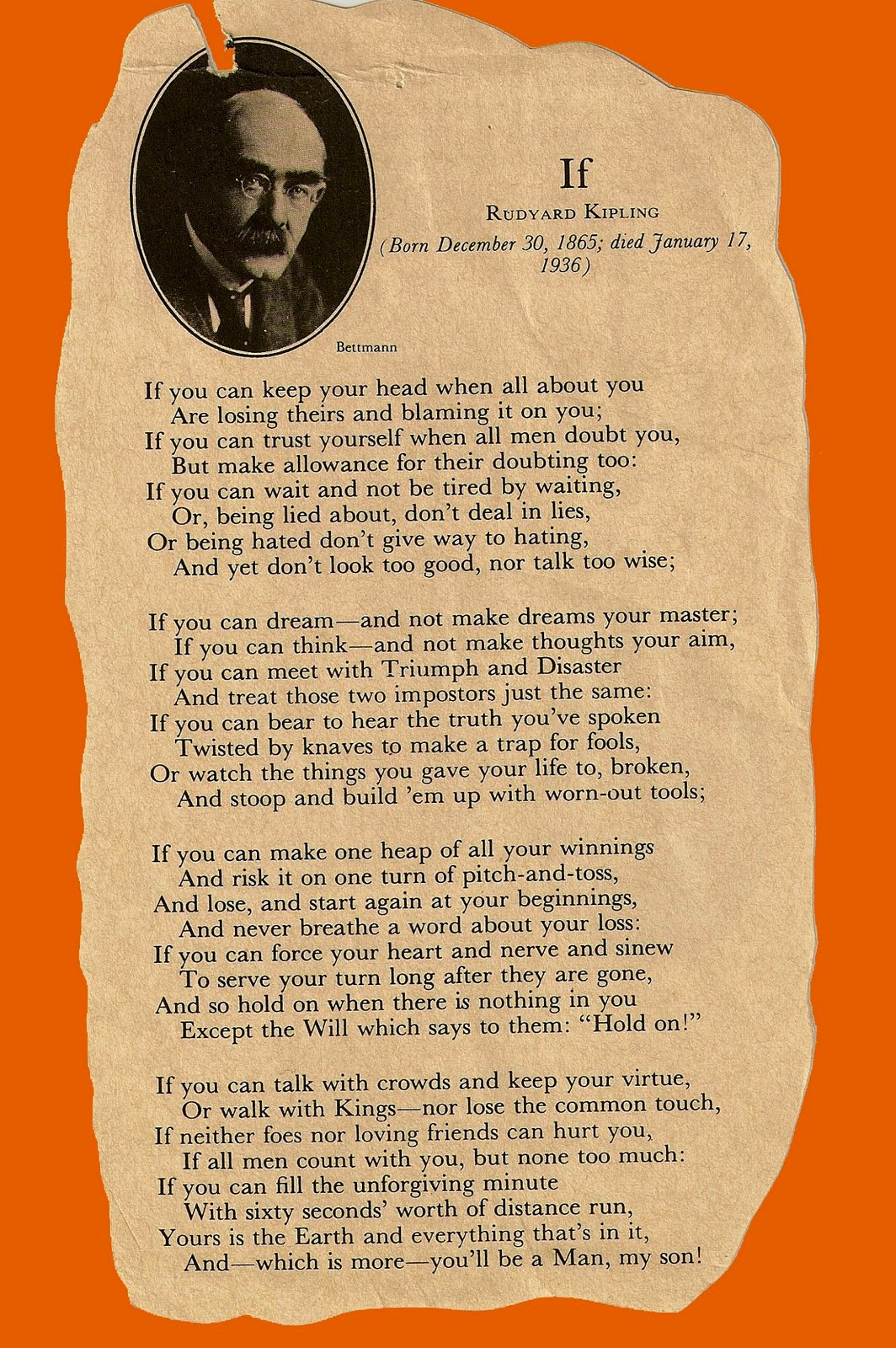 'IF —' by Rudyard Kipling: Summary & Analysis