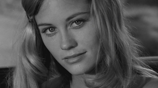 Black and White Still of Cybill Shepherd in The Last Picture Show