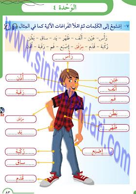 8. Sınıf Arapça Meb Yayınları Ders Kitabı Cevapları Sayfa 83