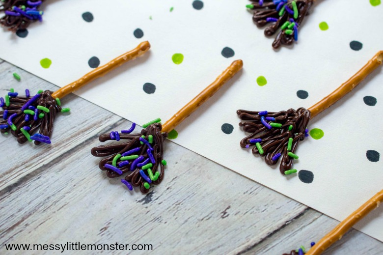 Witches broomstick halloween party food idea for kids