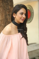 Rakul Preet Singh in lovely Pink Crop Top and Black Trousers at Jaya Janaki Nayaka success meet 001.JPG