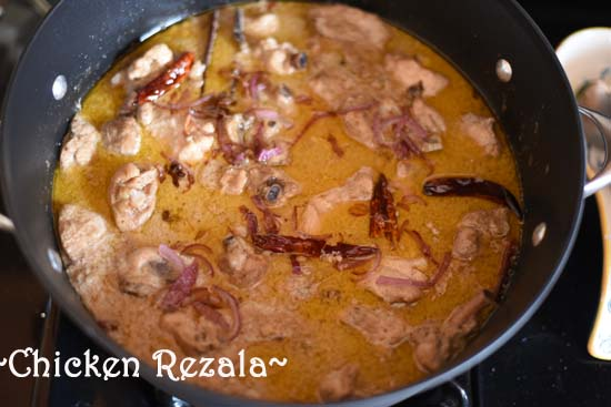 Chicken Rezala recipe