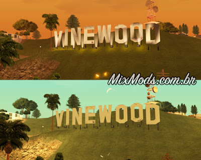 v to sa - placa de vinewood convertida do gta v